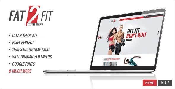 Premium Fitness Website Template