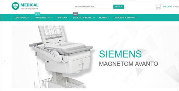 Premium Medical Equipment Magento Template