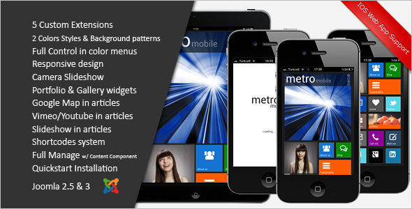 Premium Metro Style Mobile Template