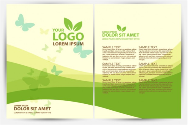 Presentation Green Background Brochure