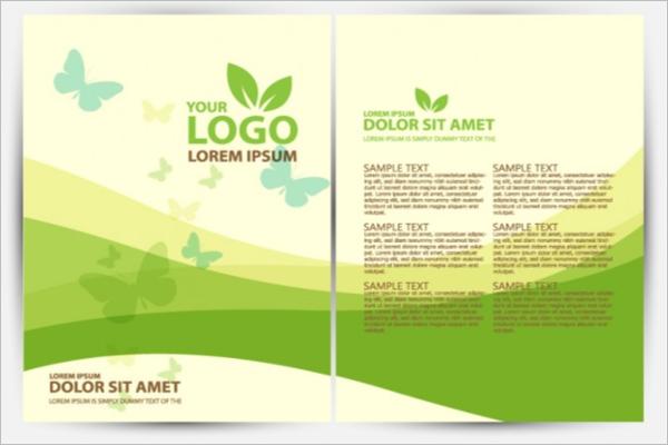 Presentation Green Background Brochure