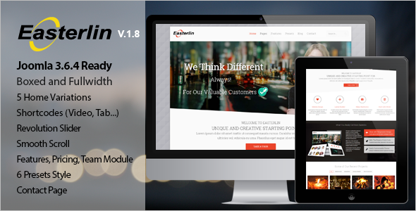 Professional Blog Joomla Template