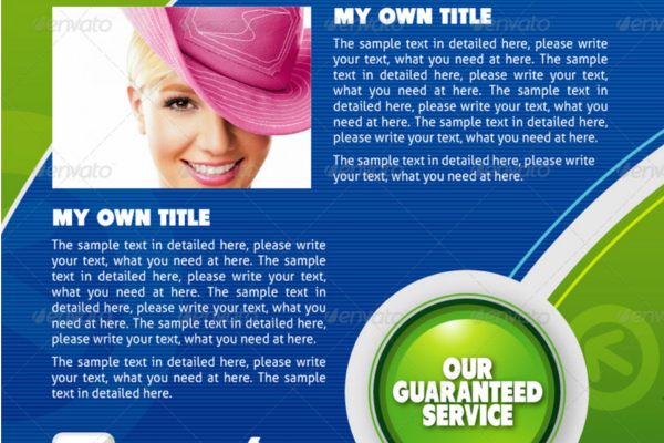 Professional Green Brochure Ideas
