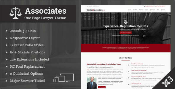 Publisher Lawyer Joomla Template