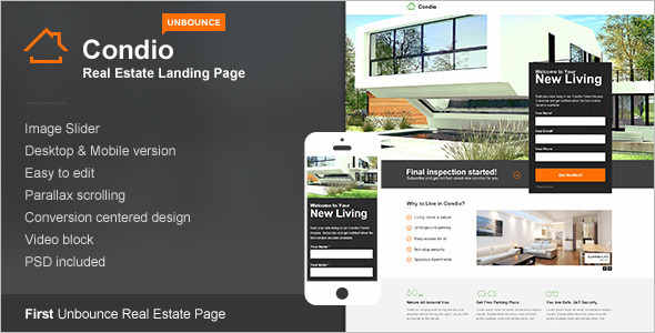 Real Estate Landing Page Signup Template