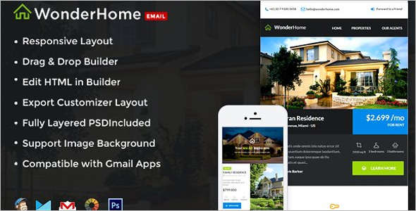 Real Estate Mobile Newsletter Template