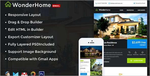 Real Estate Mobile Newsletter Template