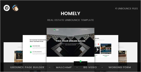 Real Estate Unbounce Landing page Template