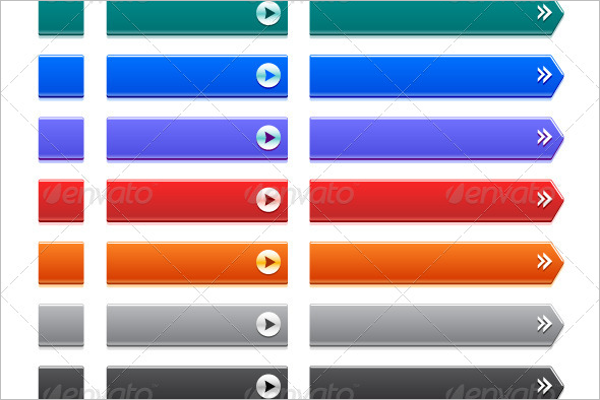 Rectangle Arrow Button Glossy