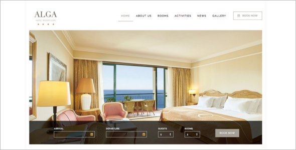 Resort Coupon WordPress Template