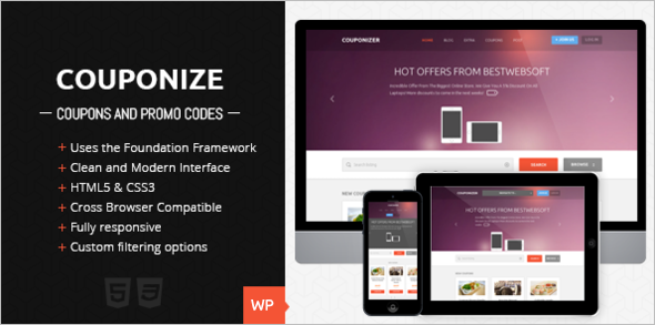 Responsive Coupon WordPress Template