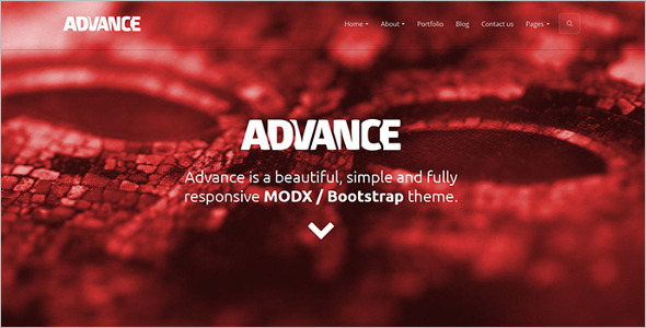 Responsive Free Modx Template