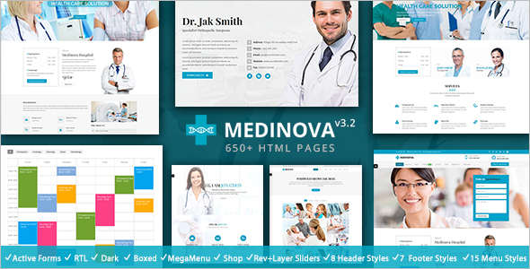 Responsive Health Bootstrap template