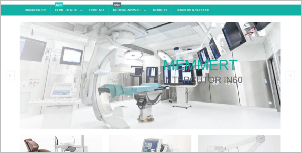 Responsive Medical Equipment Magento Template