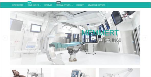 Responsive Medical Equipment Magento Template