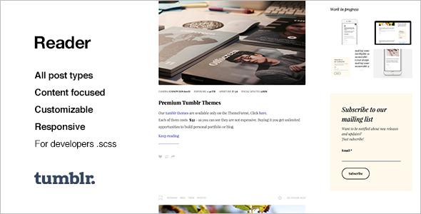 Responsive Photography Tumblr Theme