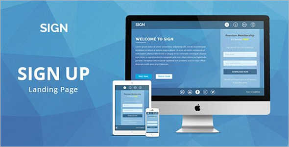 Responsive Signup Landing Page Template