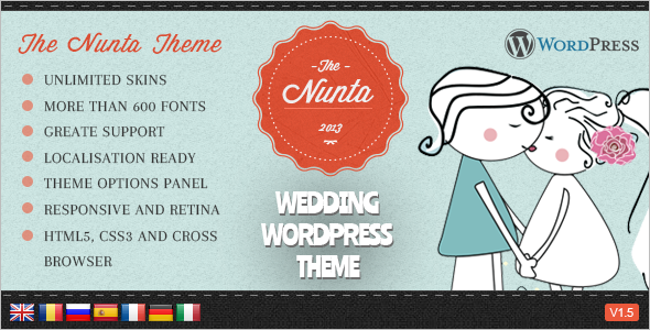 Responsive Wedding Blog Template