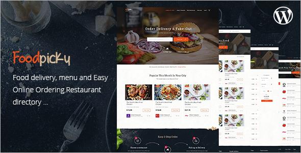 Restaurant Coupon WordPress Templates
