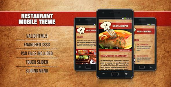 Restaurant Type Mobile Template