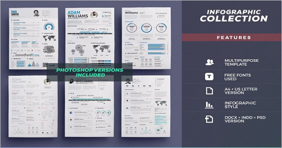 Resume Bundle Infographic Design Template