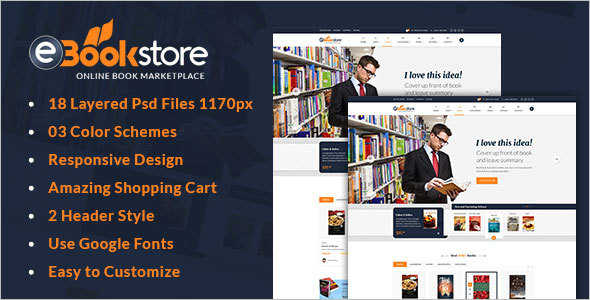 Retail Book Store HTML Template