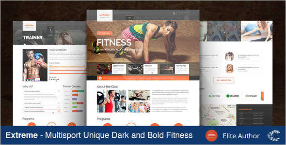 Retail Fitness Website Template