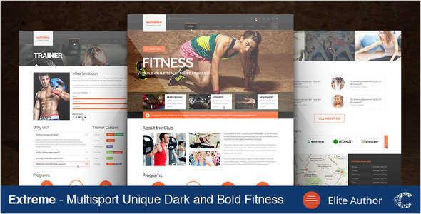 Retail Fitness Website Template