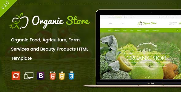 Retail Organic Food HTML Template