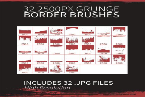 Rough Jagged Border Brushes