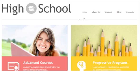 Schoolmaster Blog Template