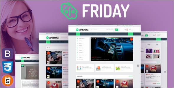 Shopping Deals Website Template