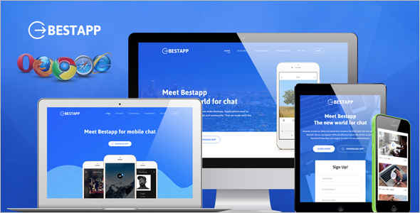 Showcase Landing Page sighnup Template