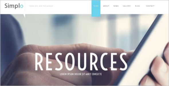 Simple Business Website Template