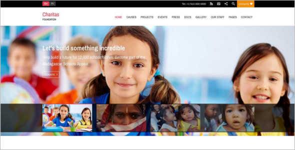 Simple Fundraising WordPress Theme