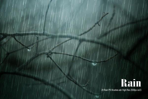 Simple Rain Drop Brushing Outlook