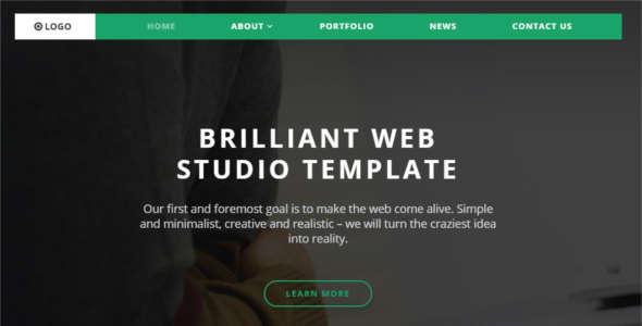 Simple Studio Website Template