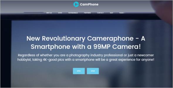 Smartphone WordPress Template