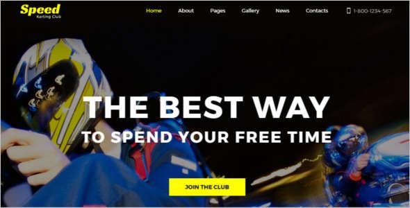 Speed Racing Joomla Template