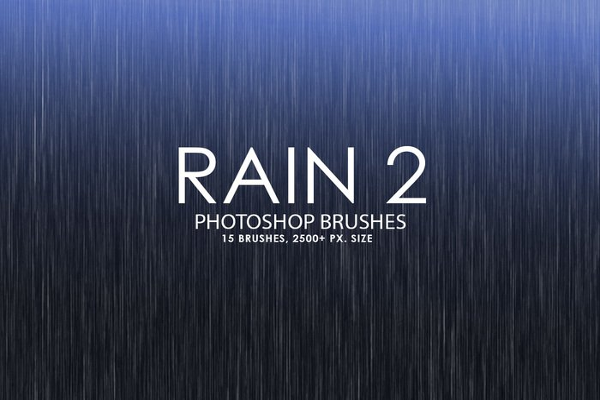 Splashing RainStrom Brushes Design