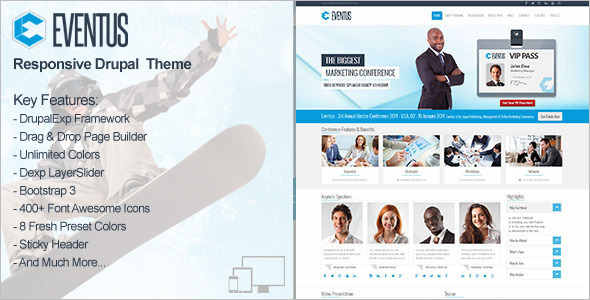 Sports Featured drupal template