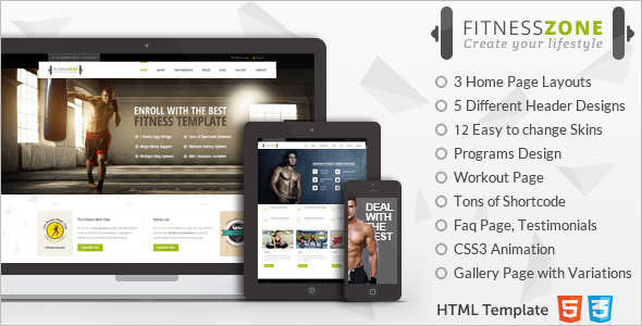 Sports Fitness Website Template