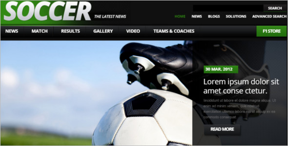 Sports Soccer Drupal Template