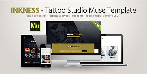 Studio Landing page Website Template