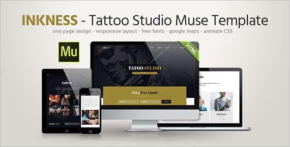 Studio Landing page Website Template