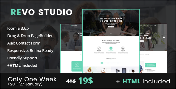 Studio Website Joomla Template