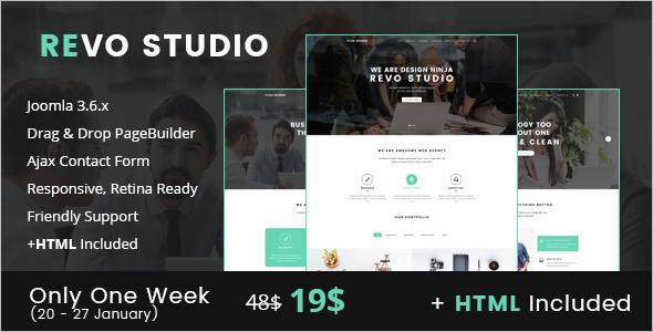 Studio Website Joomla Template