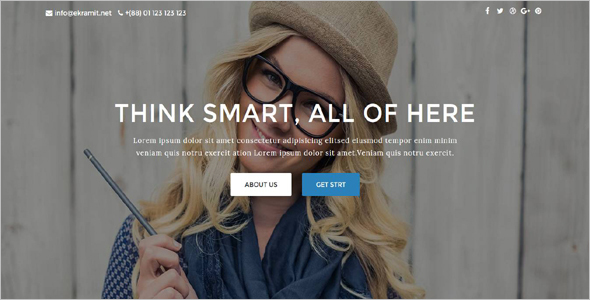 Studio Website Template Design