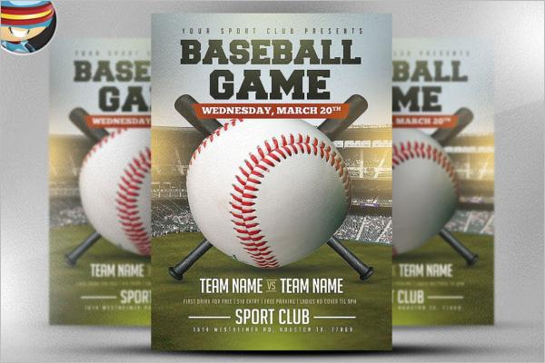 Stunning Baseball Game Flyer