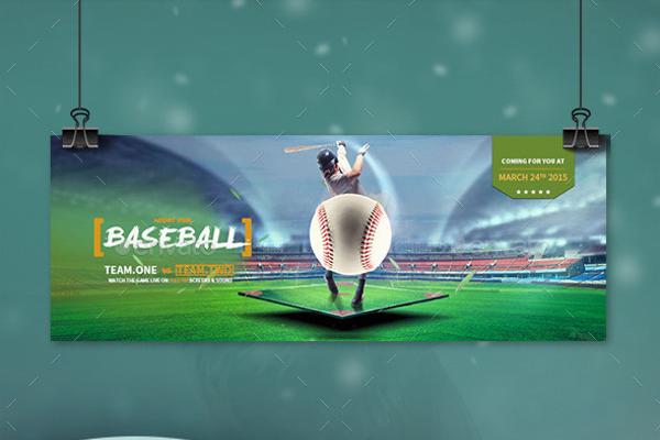 Stunning promotional baseball Flyer